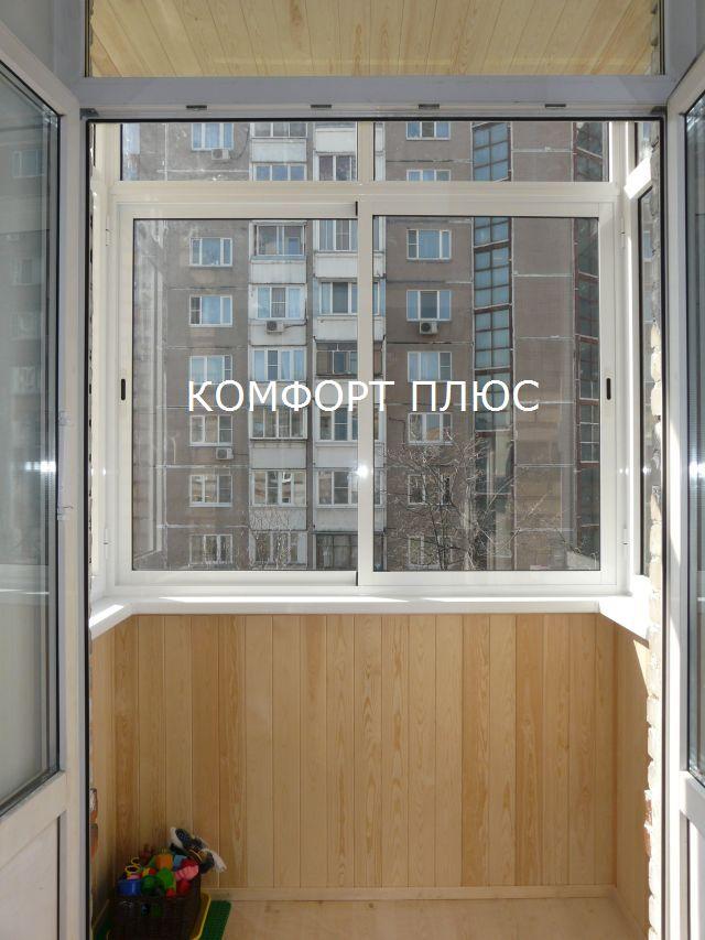 Отделка балкона 2 метра