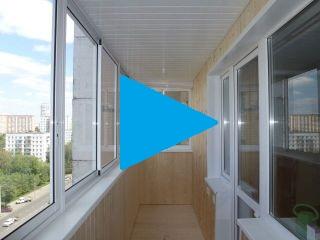 Балкон 6 метров раздвижное остекление