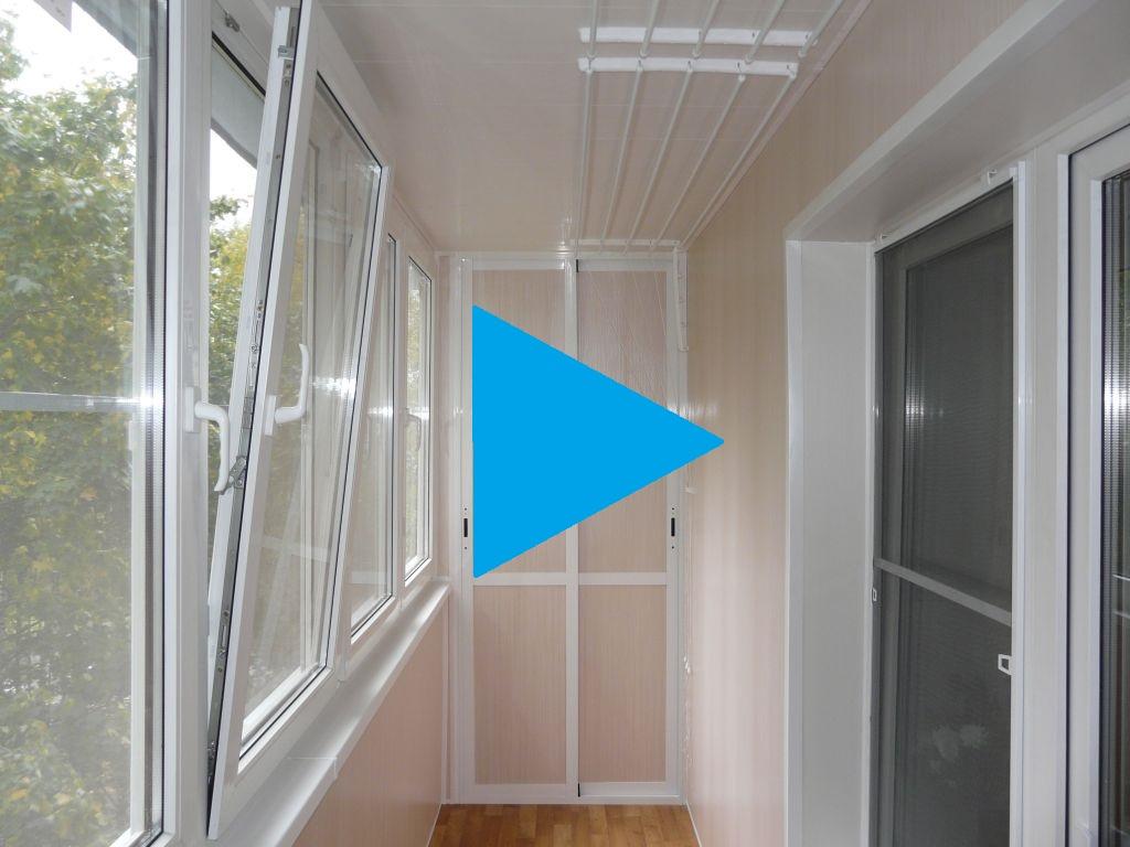Лоджия 6.2 метра остекление REHAU ламинированные панели шкафы