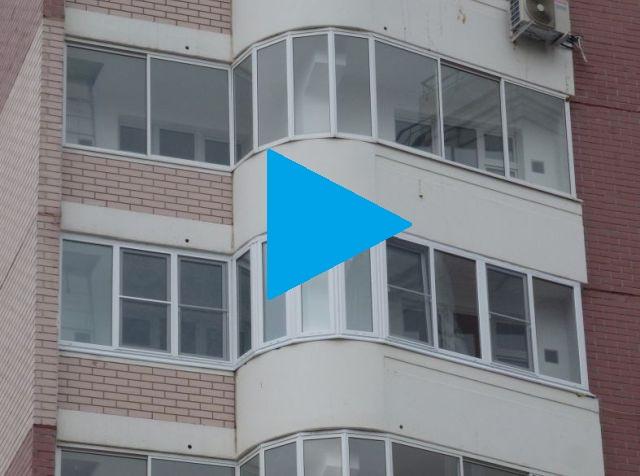 Видео замены холодного остекления от застройщика на стеклопакеты