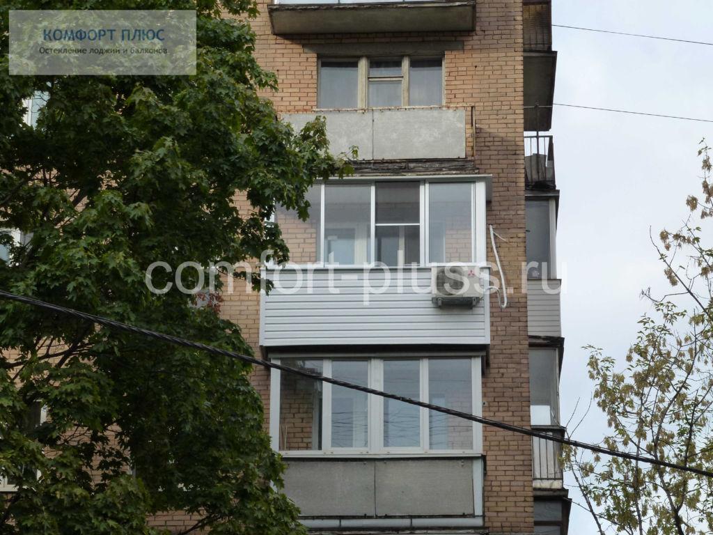 Перенос кондиционера на парапет балкона