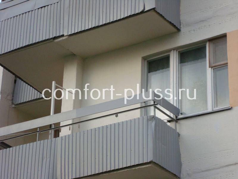 Балкон П-3 2 метра Г-образный без остекления