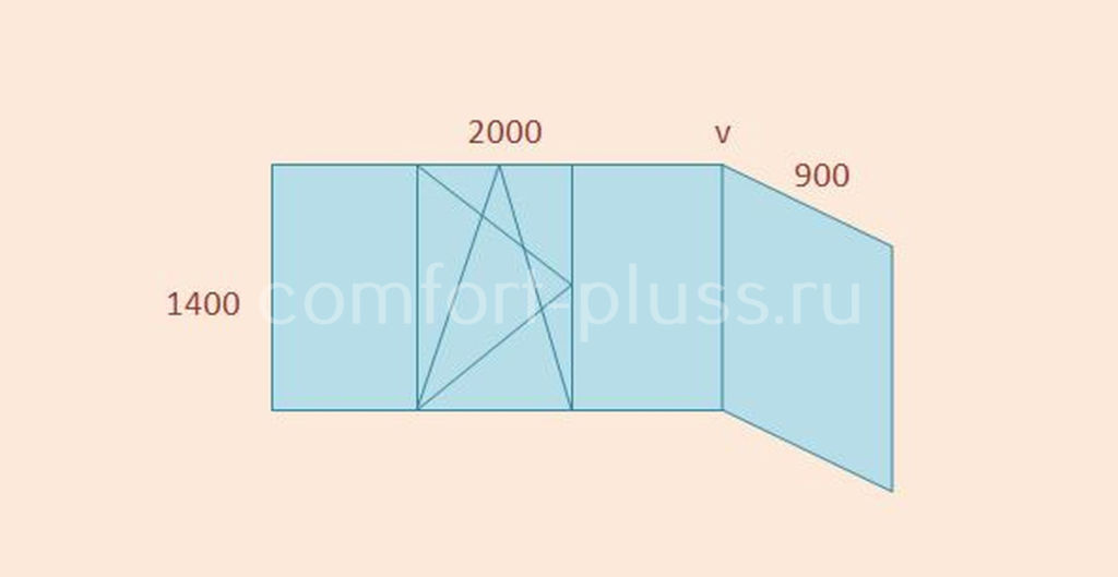 Стоимость тёплого остекления балкона П-3, Г-образный