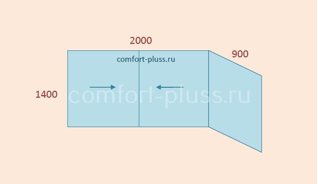 Стоимость остекления балкона П-3, Г-образный