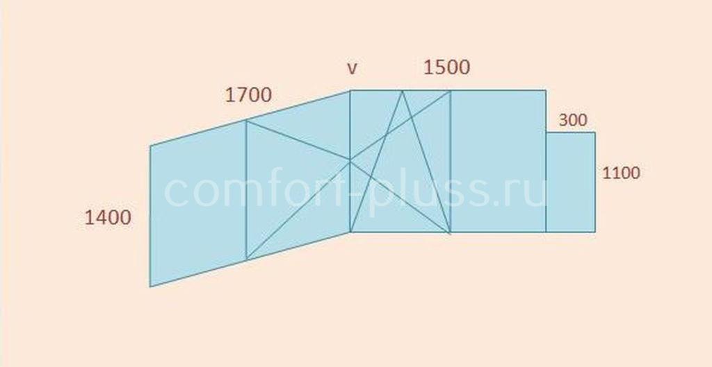 Стоимость тёплого остекления балкона П-44 лодочка