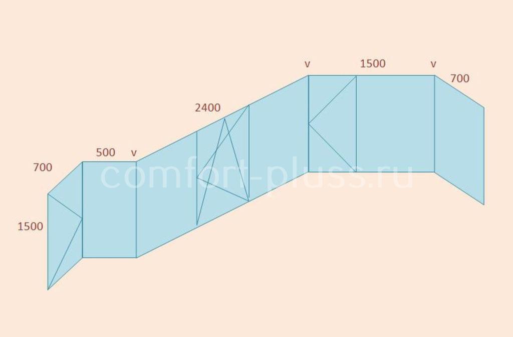 Стоимость тёплого остекления балкона ПД-4, 6 метров