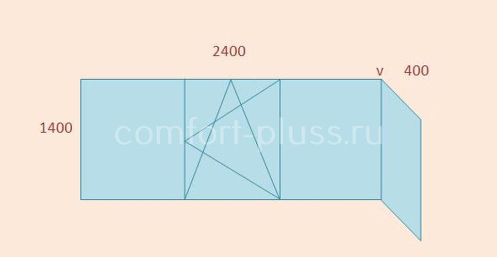 Стоимость тёплого остекления лоджии 2.4 метра II-49