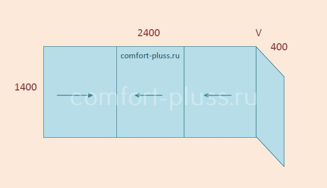 Стоимость остекления лоджии 2.4 метра II-49
