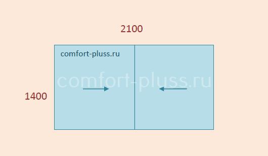 Стоимость лёгкого остекления лоджии П-30, П-55, 2 метра