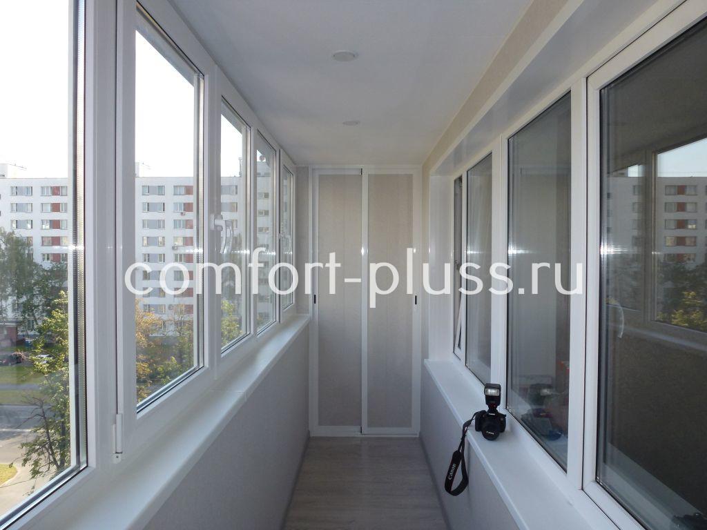 Остекление и отделка лоджий и балконов в Москве.