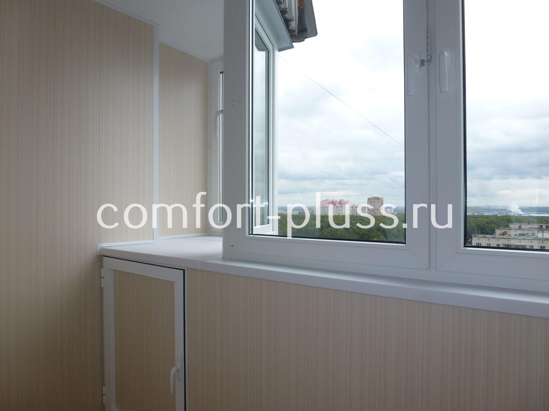 Отделка лоджий и балконов ламинированными панелями