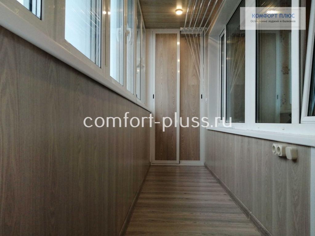 Отделка лоджии 6 метров ламинатом, пол и стены.