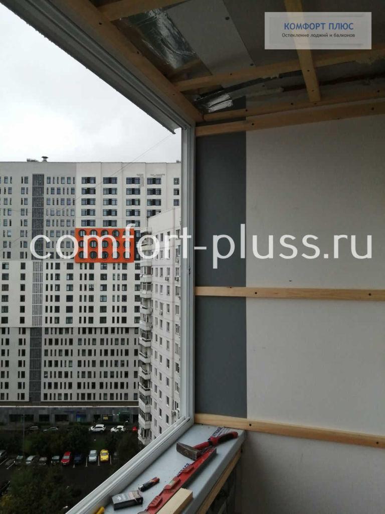 Вынос остекления, балкон П-3 Г-образный.
