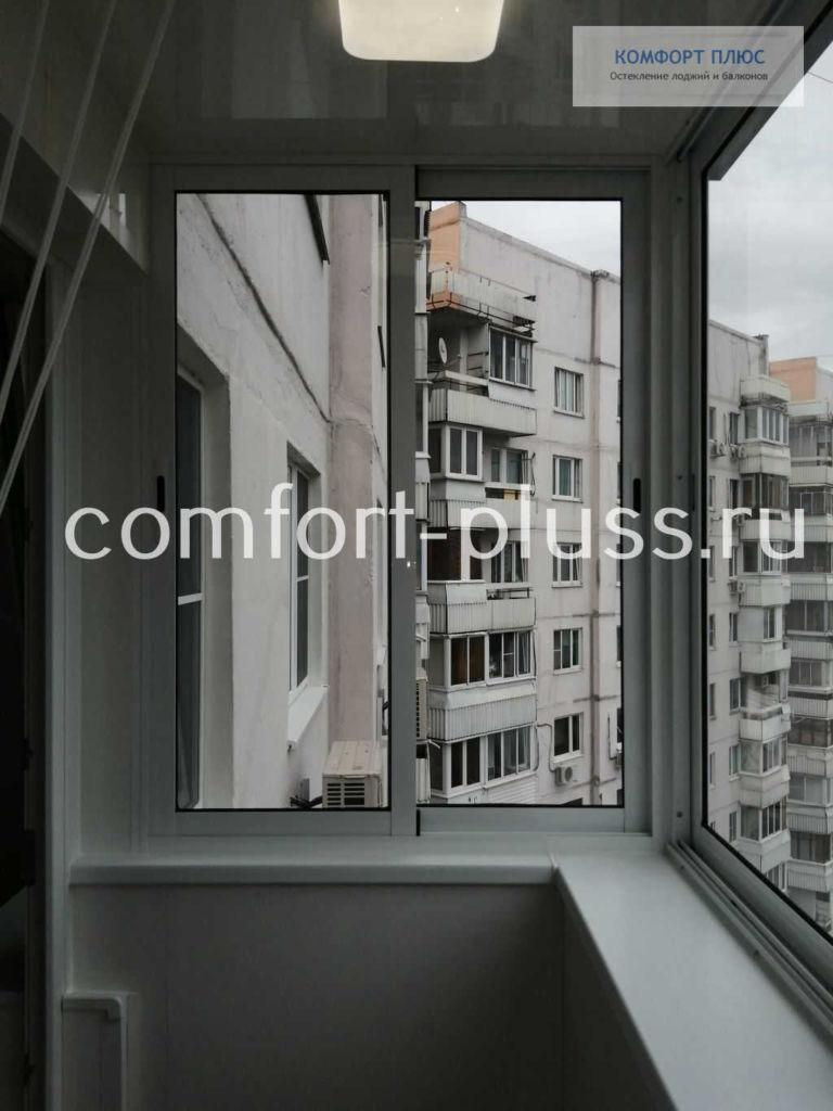 Остекление с выносом. Балкон П-3 Г-образный.