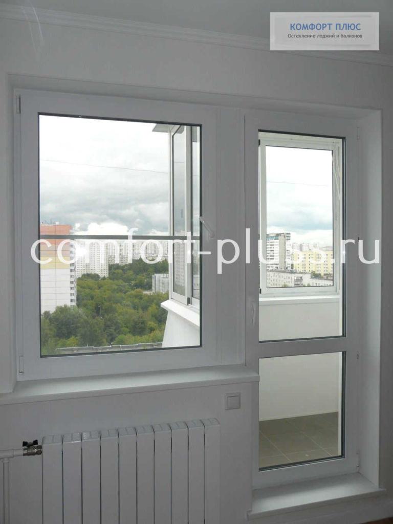 Балконный блок П-3, балкон Г-образный