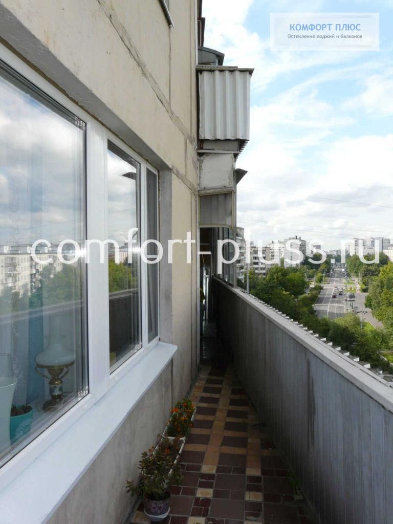 Балкон 6 метров без крыши