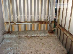 пол и ограждение балкона п-3